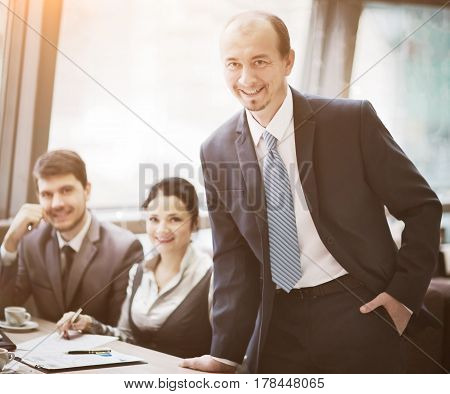 Successful group of business people at the office