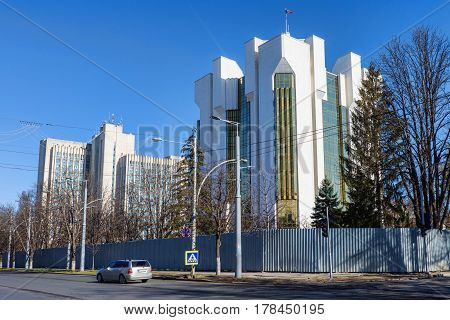 Presidency, office of the president of moldova, administration building, chisinau, blue sky, near ministry of agriculture