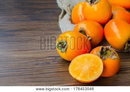 Persimmon Fruit Background