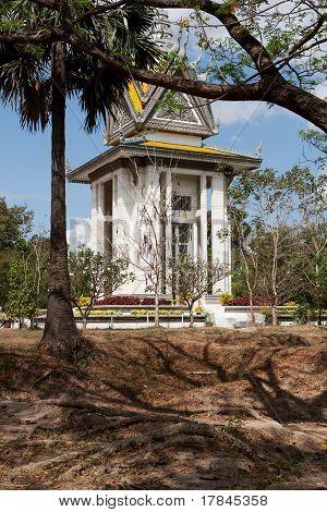 Choeung Ek Memorial Cambodia killing fields at Phnom Penh poster