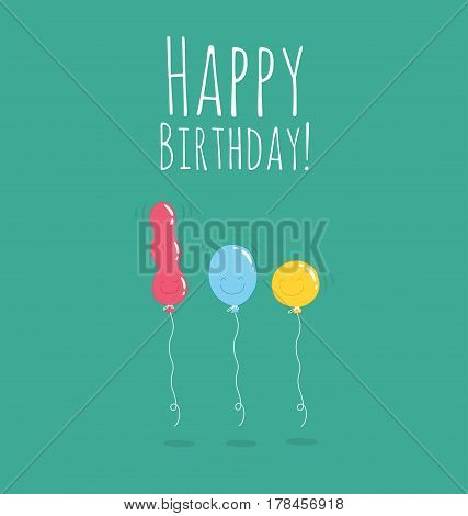 Baloons in color for happy birsday or celebration