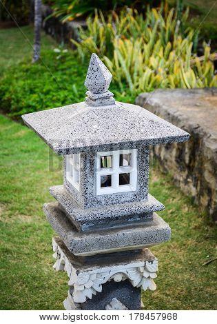 Stone Lantern At The Garden