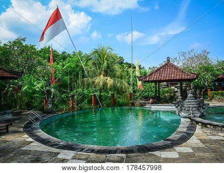 Swimming Pool At Luxury Resort In Bali, Indonesia