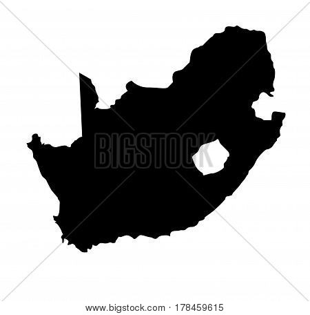 South Africa map illustration on white background