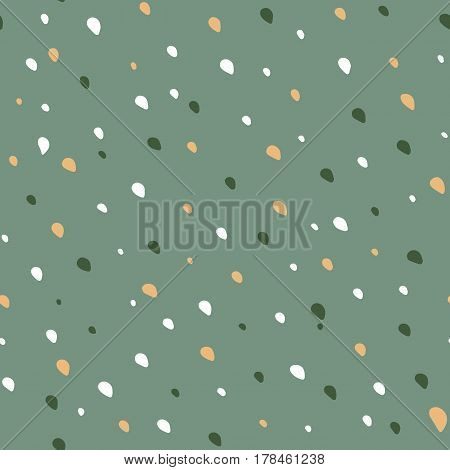 Abstract seamless specks spots pattern. Hand drawn stains or dots, plash, spray. Drop of paint background. Vector illustration