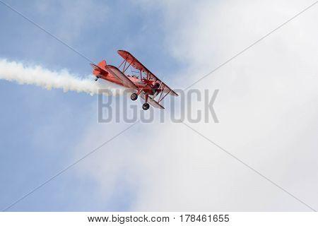 Vicky Benzing Flying Her 1940 Boeing Stearman