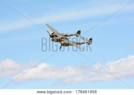 Lockheed P-38J Lightning On Display