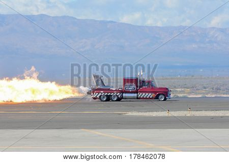 Chevy Jet Truck Flame Smoke