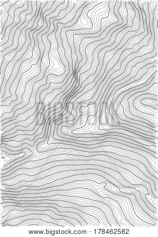 Vector abstract earth relief map. topographic map with white background
