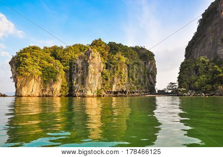 Tropical rocky island in the Andaman Sea.