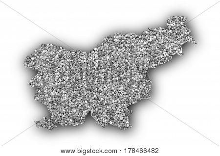 Map Of Slovenia On Poppy Seeds