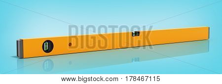 Yellow Building Level Isolated On A Glass Blue Background