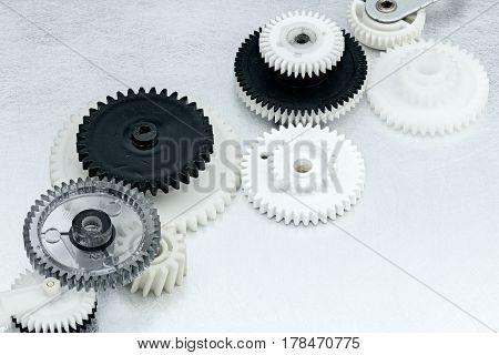 Plastic Cogwheels For Industrial Equipment. Machinery Details.