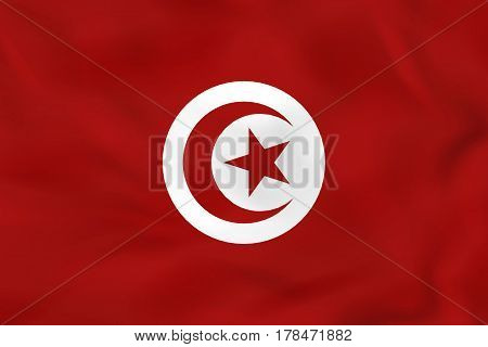 Tunisia Waving Flag. Tunisia National Flag Background Texture.