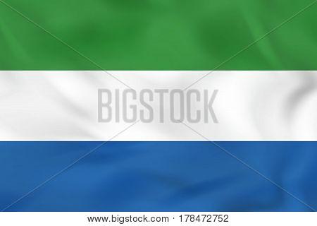 Sierra Leone Waving Flag. Sierra Leone National Flag Background Texture.