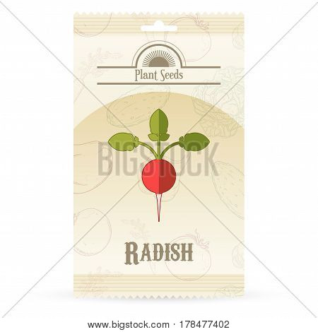 Vector image of the Pack of Radish seeds icon