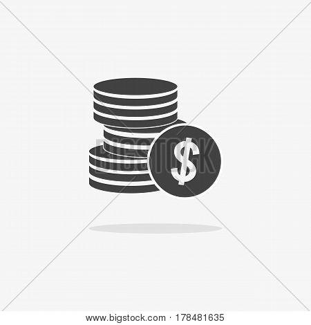 Money Icon Isolated On Gray Background ,flat Style.