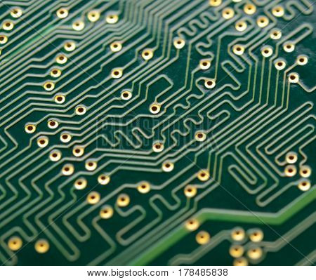 Close up Image of the Electronic Circuit Board. Computer Technology Concept Background