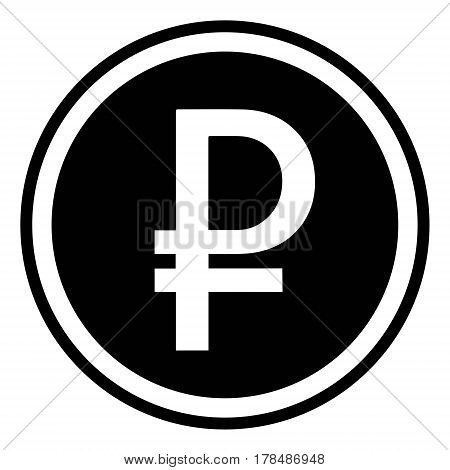 sign of the Russian currency, the Russian ruble, the vector is flat, the ruble crossed the letter p