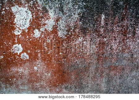 abstract background and texture of rust brown red multi-colored with stains