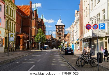 street view of Lubeck, Germany