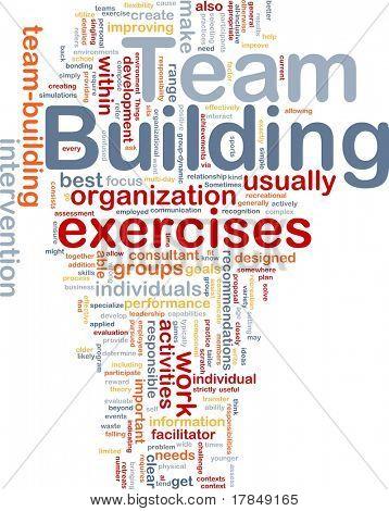 Background concept wordcloud illustration of team buliding