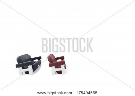 Sofa isolated on white background with copy space