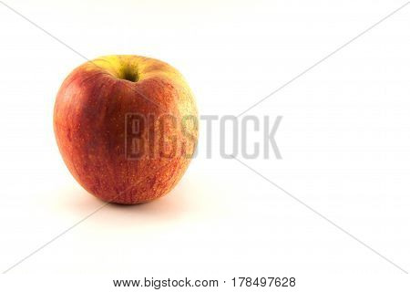 The apple fruit on the white background