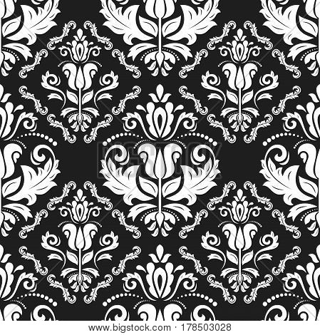 Classic seamless vector black and white pattern. Traditional orient ornament. Classic vintage background