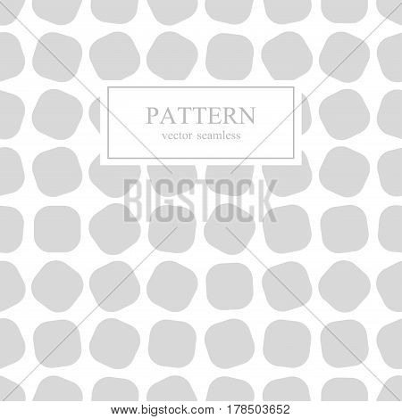 Chaotic square seamless geometric pattern.White and gray background.