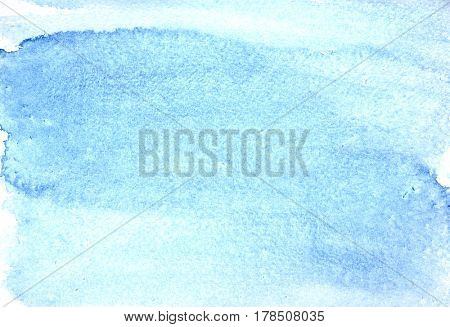 Blue watercolor abstract background with texture of paper