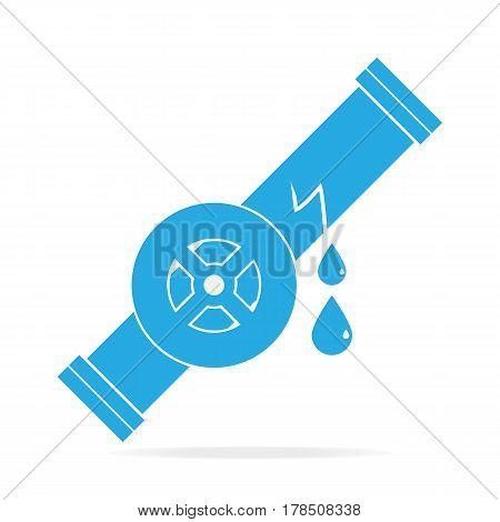 Water leak icon, Oil leak icon sign illustration