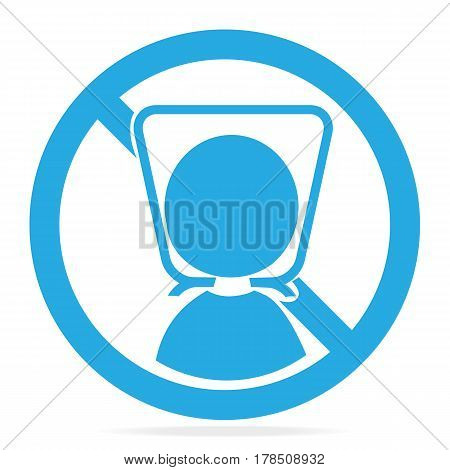Warning sign with plastic bag icon. To avoid danger from suffocation from babies and children sign. Vector illustration
