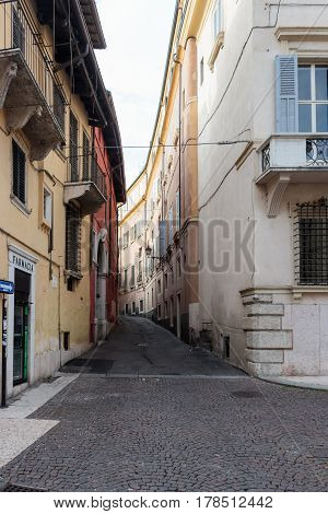 Vicolo Osite Street Of The Old City Of Verona