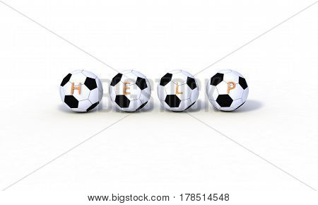 Help Concept, Football Models 3D Render