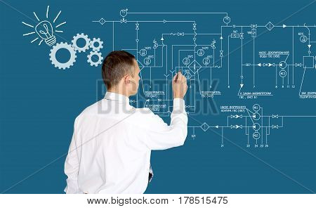 Developer.creation software.  engineering technology. development. Generation ideas