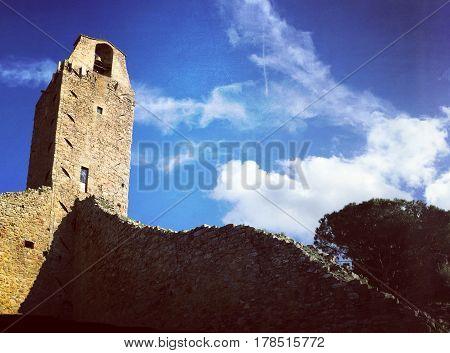 Torre del Cassero in Castiglion Fiorentino, prov of Arezzo. Italy