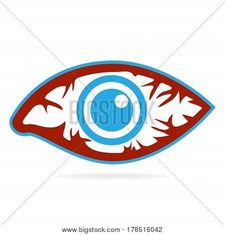 Eye redness icon Inflammatory disease of eyes.
