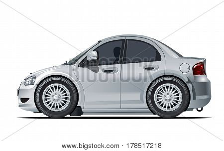 Vector cartoon car. Available EPS-10 separated by groups and layers.