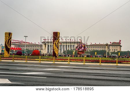National Day Golden Week holiday at Tiananmen Square, Beijing