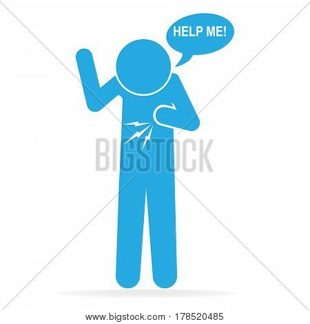 Heart patient Chest patients icon medical sign icon