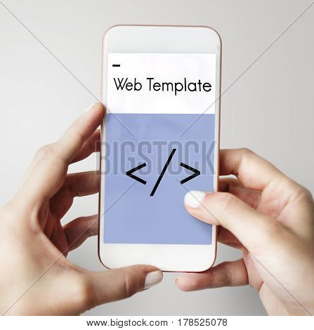 Layout Web Template Coding Brackets