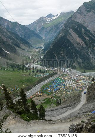 Mountain Scenery In Jammu & Kashmir, India