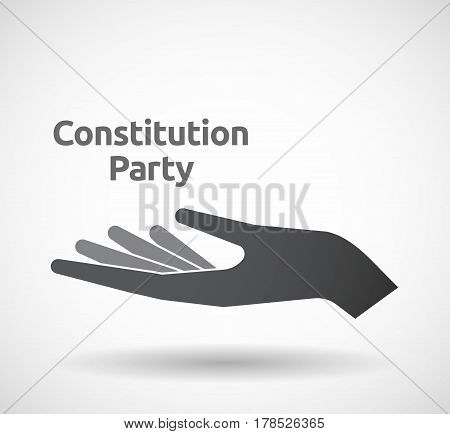 Isolated Hand With  The Text Constitution Party