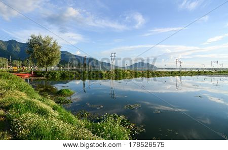 View Of Dal Lake In Srinagar, India
