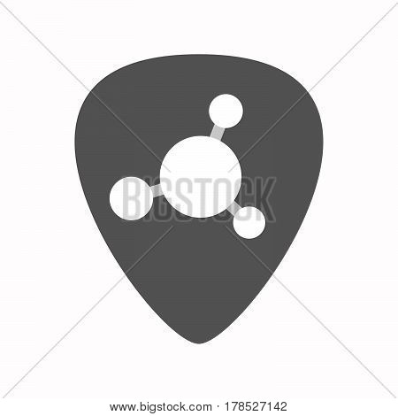 Isolated Guitar Plectrum With  An Interconnected Net Sign