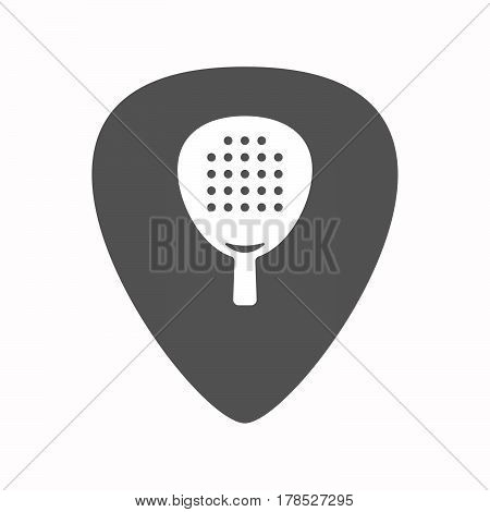 Isolated Guitar Plectrum With  A Paddle Racket