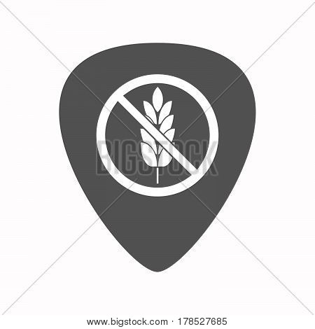 Isolated Guitar Plectrum With  A Gluten Free Sign