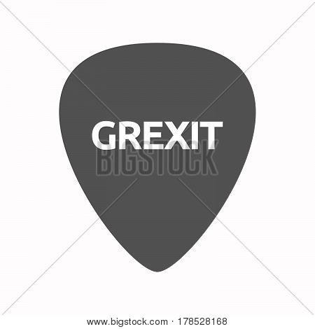 Isolated Guitar Plectrum With  The Text Grexit