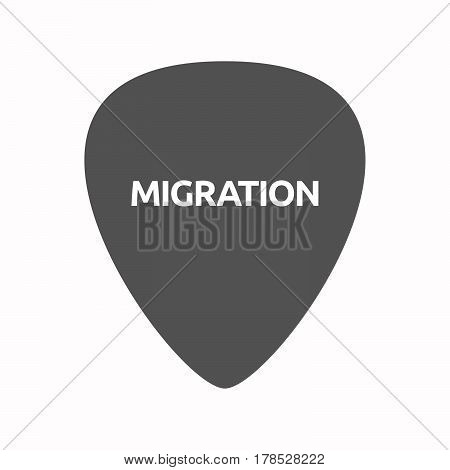 Isolated Guitar Plectrum With  The Text Migration